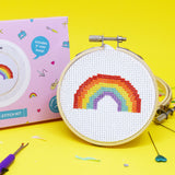 Gin 'n' Rainbow Mini Cross stitch bundle