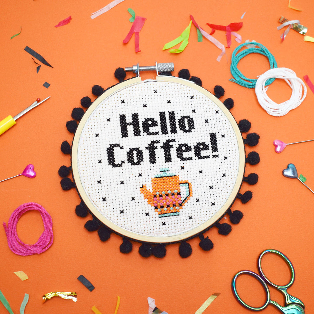 'Hello Coffee!' Cross Stitch Kit