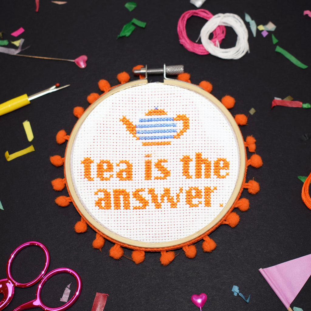 'Tea is the Answer' Cross Stitch Kit