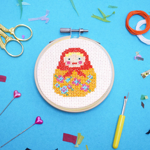 'Doll' Mini Cross Stitch Kit