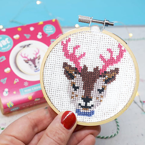 'Reindeer' Mini Cross Stitch Kit