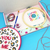 'YOU + ME' LARGE CROSS STITCH KIT