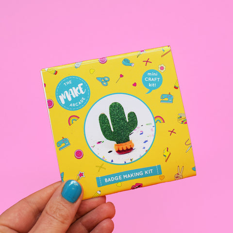 'Cactus' Badge Making Kit
