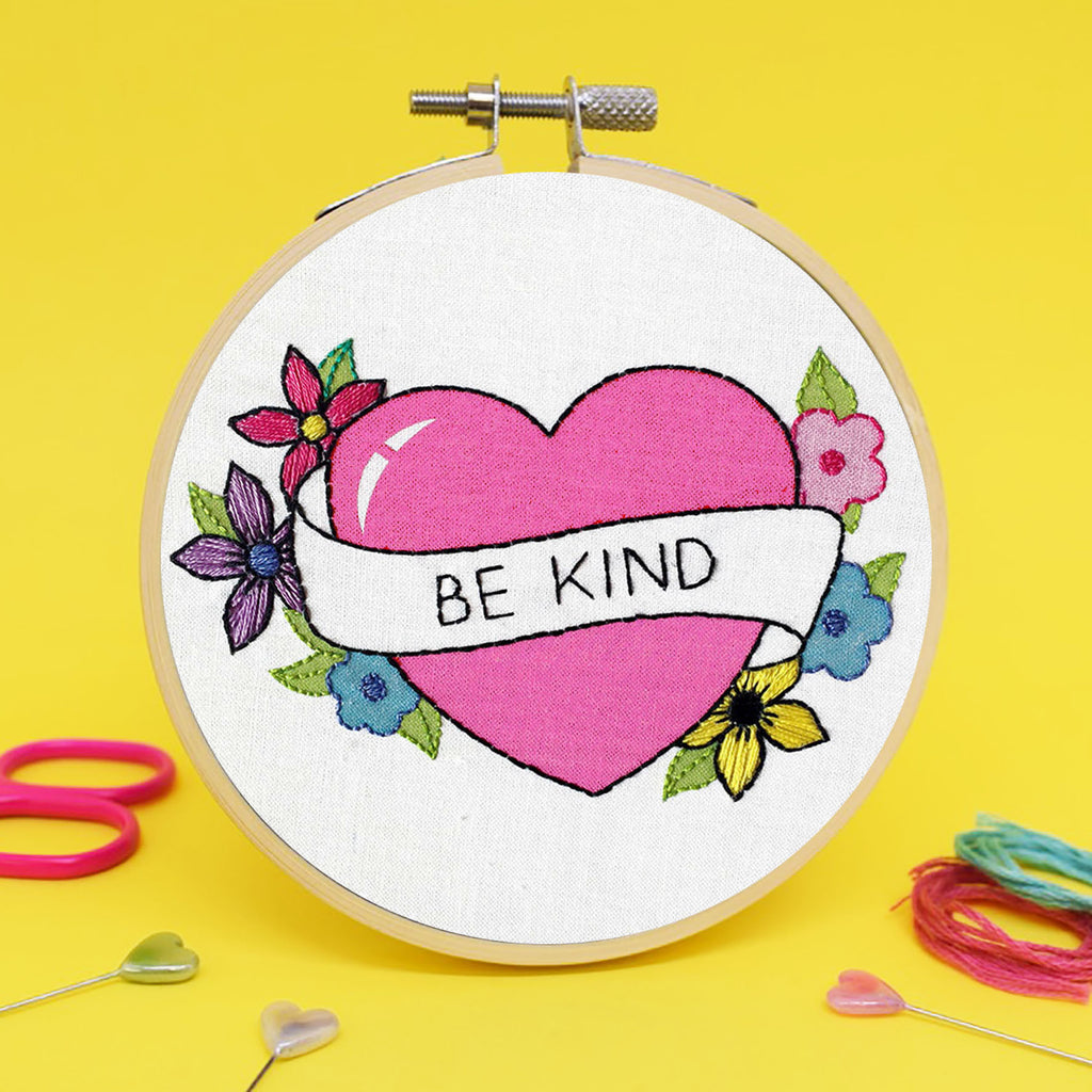 'Be Kind' Mini Embroidery Kit