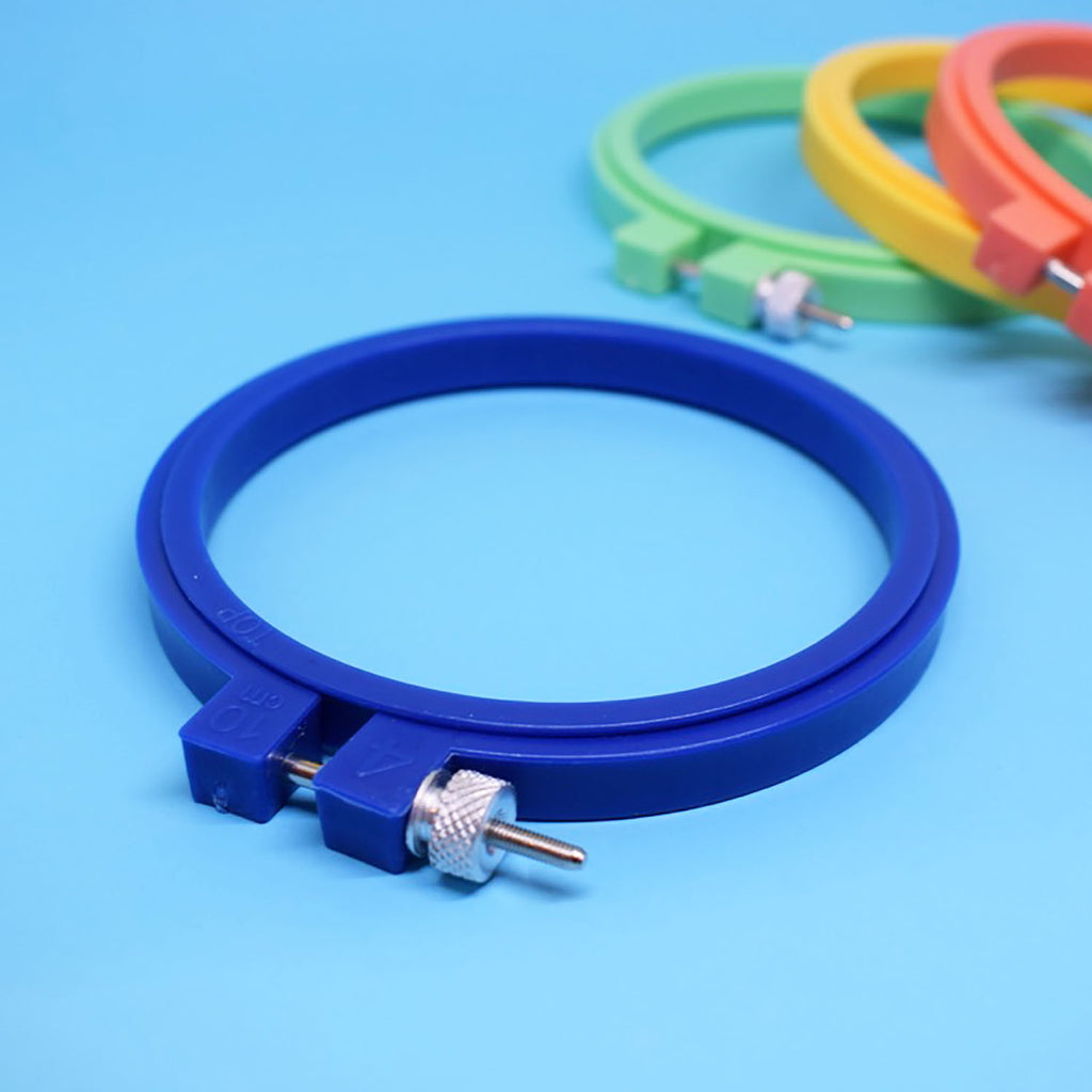 "4"" Plastic Embroidery Hoop - BLUE"