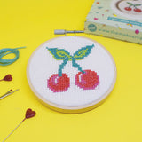 'Cherry Bomb' Mini Cross Stitch Kit