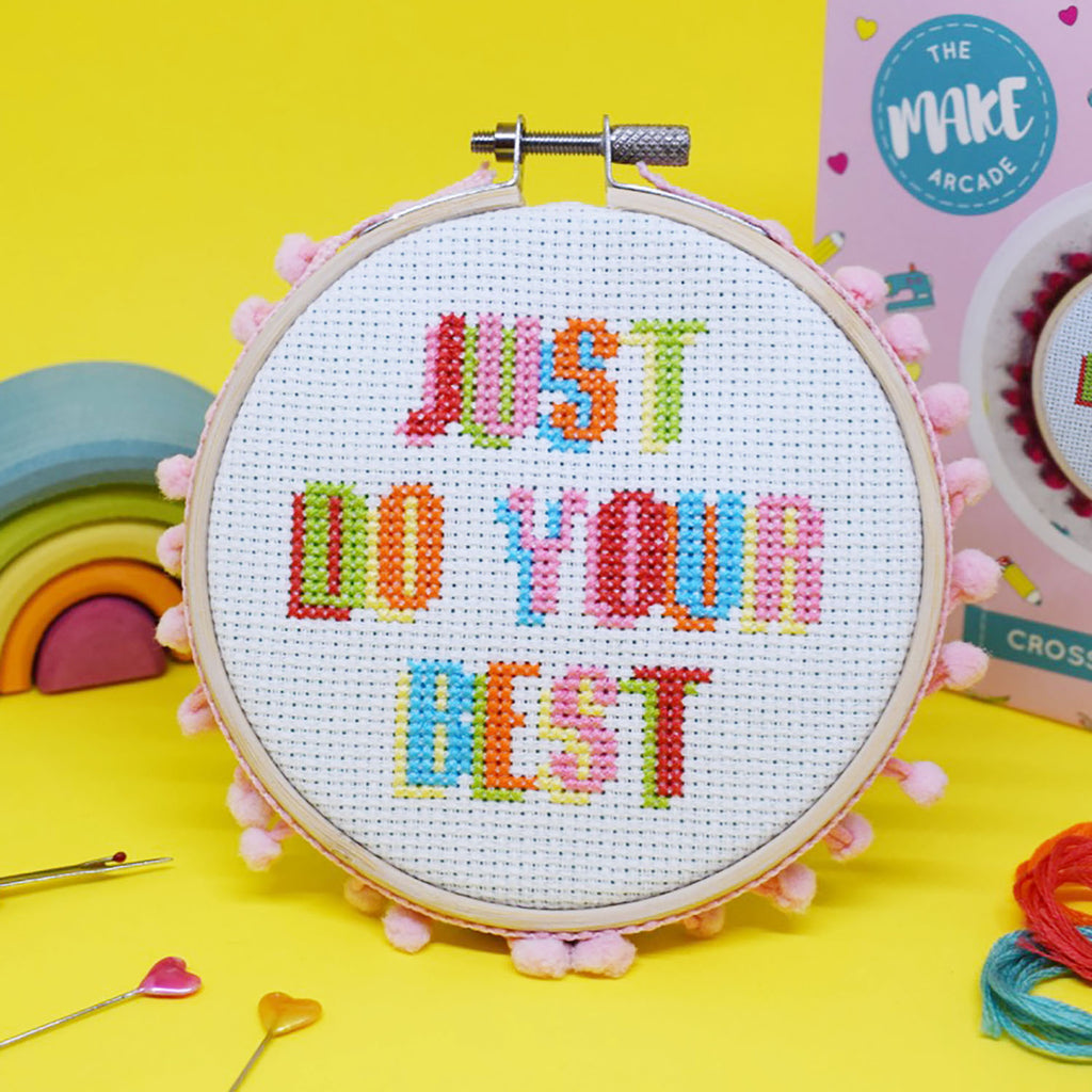 'Just do your Best' Midi Cross Stitch Kit