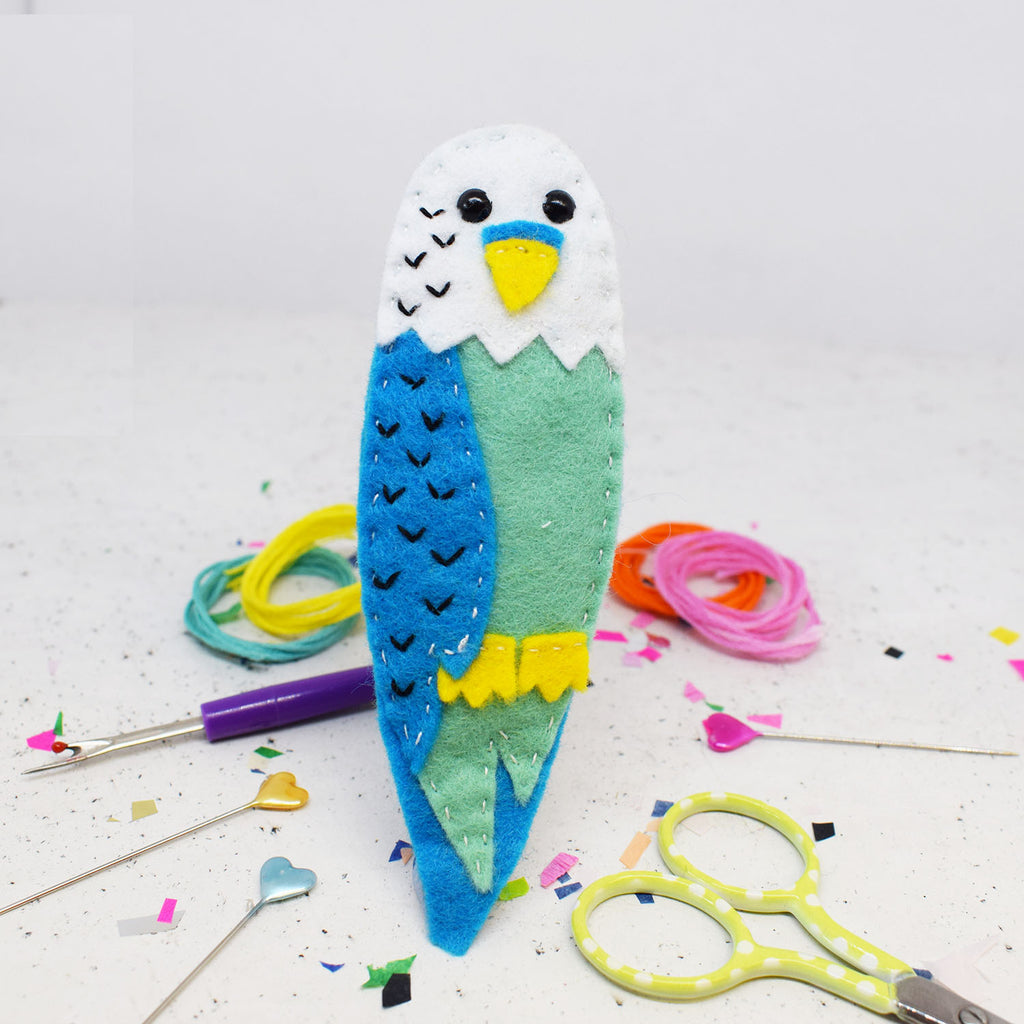 'Billy Budgie' Felt Sewing Kit