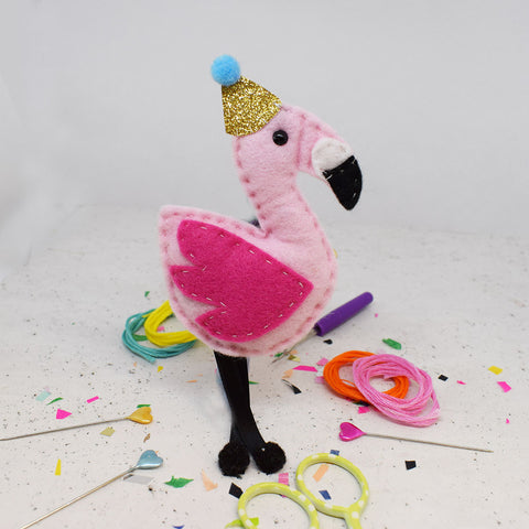 'Fernando Flamingo' Felt Sewing Kit