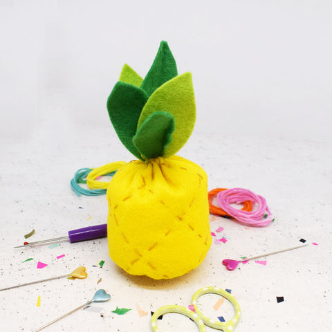 'Tropical Pineapple' Felt Sewing Kit