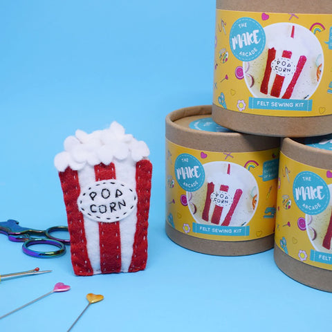 'Popcorn' Felt Sewing Kit
