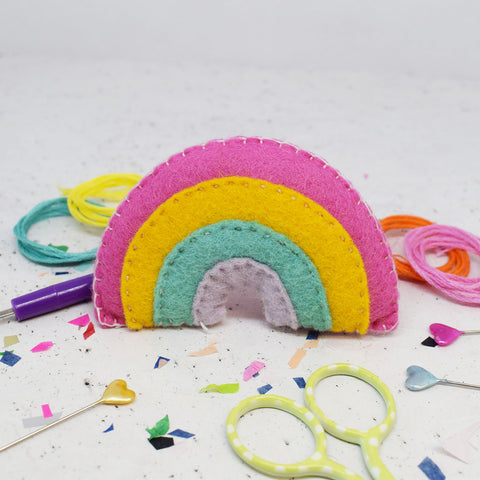 'Pastel Rainbow' Felt Sewing Kit