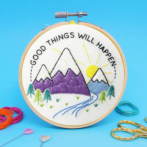 'Good things will happen' Mini Embroidery Kit