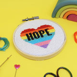 'Hope Heart' Mini Cross Stitch Kit