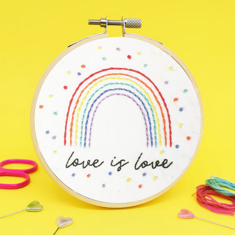 'Love is Love' Mini Embroidery Kit