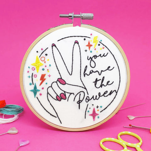'You have the Power' Mini Embroidery Kit