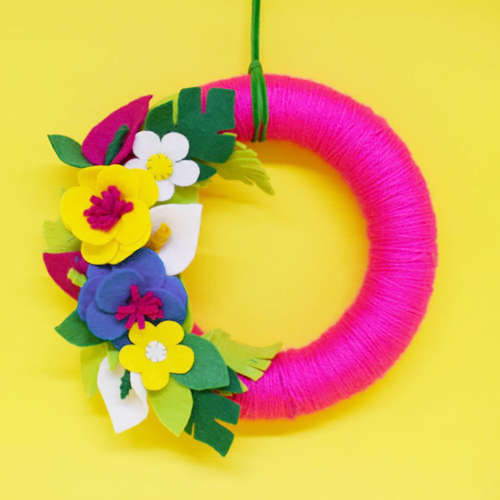 Tropical Summer Wreath Felt Craft Kit