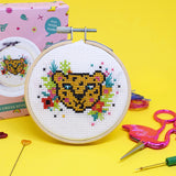 Tropical Leopard Mini Cross Stitch Kit