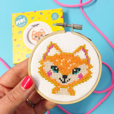 'Florence Fox' Mini Cross Stitch Kit