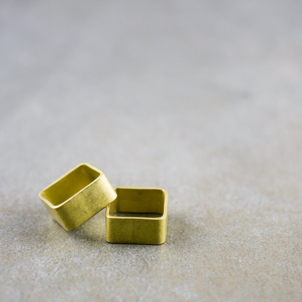 Square Brass Rings--multiple thicknesses