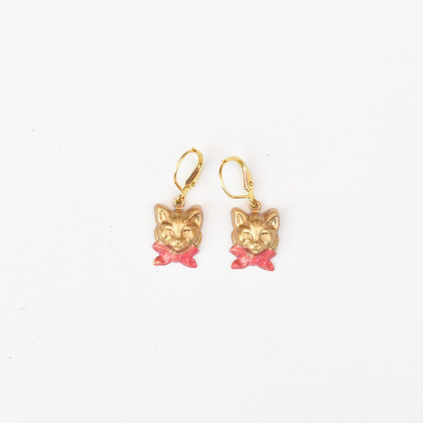 Bowtie Kitty Earrings