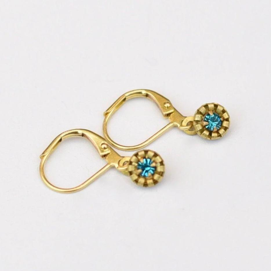 Teeny Tiny Aqua Dangles