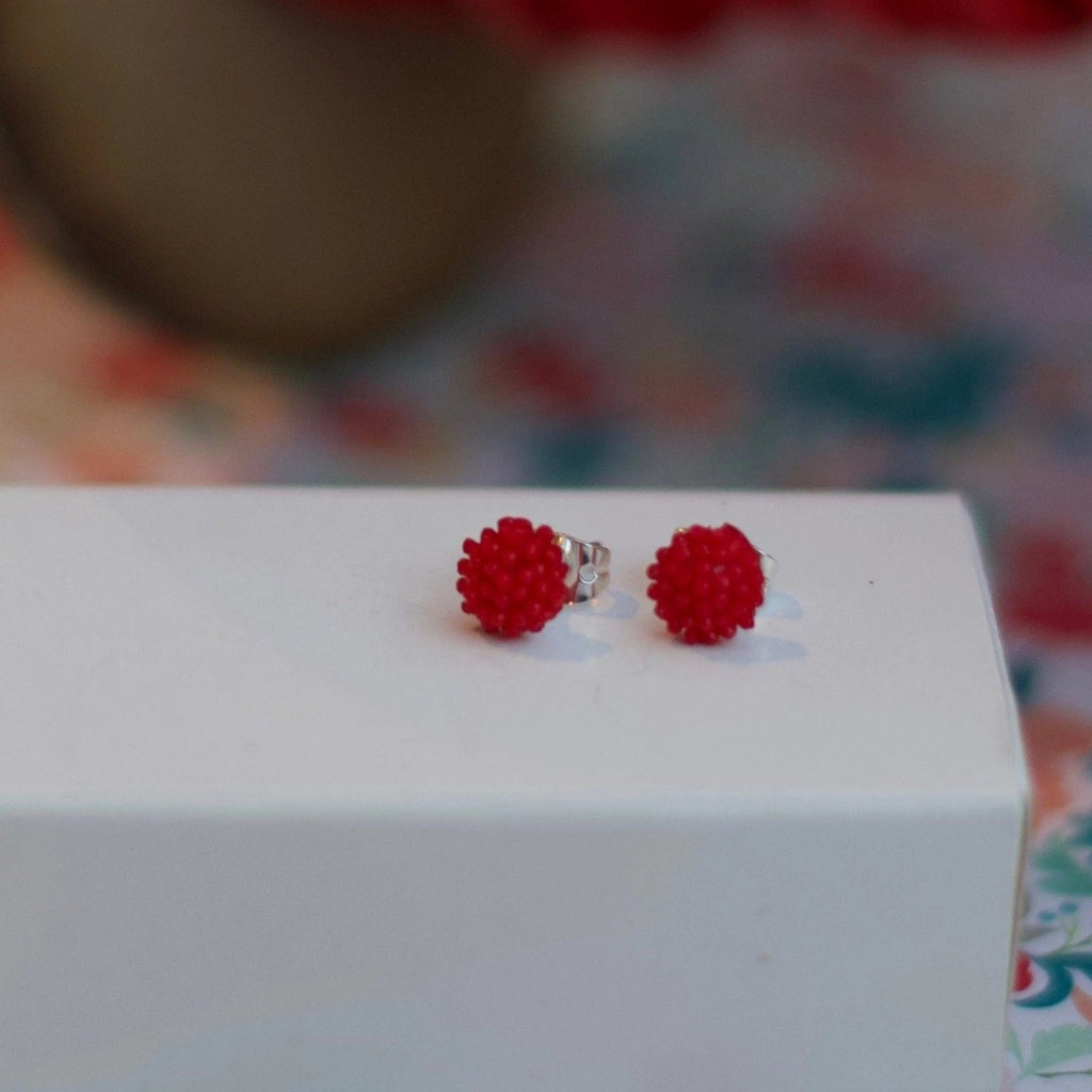 Raspberry Baby Bloom Studs