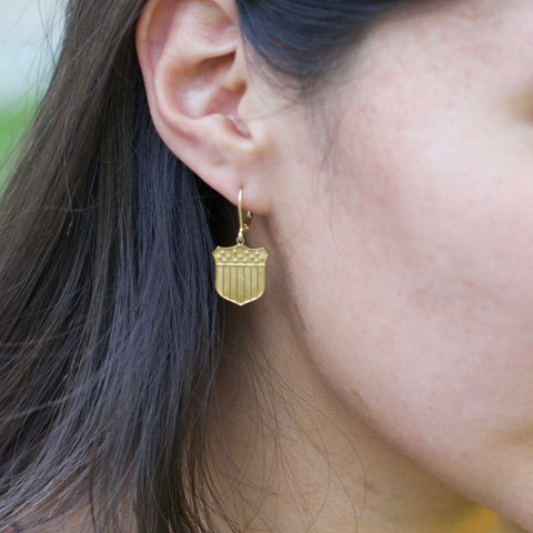 Wonder-full Woman Shield Earrings