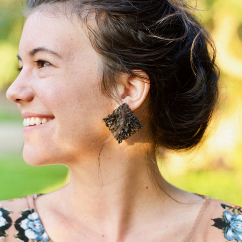 Bouquet Noir Earrings