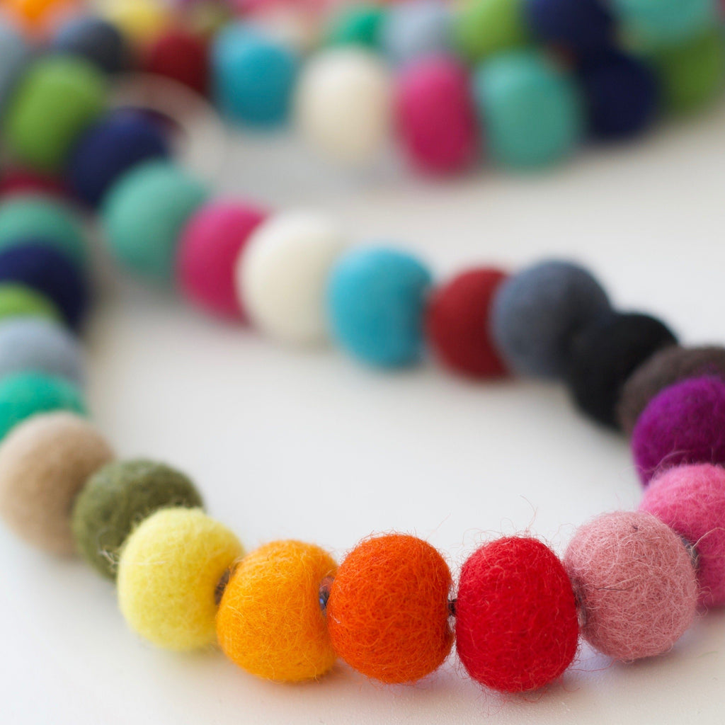Multicolor Wool Felt Garland