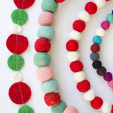 Giant Wool Felt Garland - Multicolored