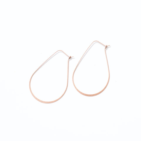 Elongated Copper Hoops