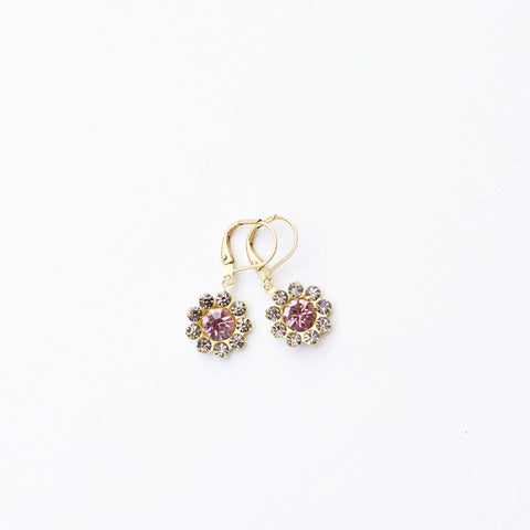 Black Diamond Flower Dangles