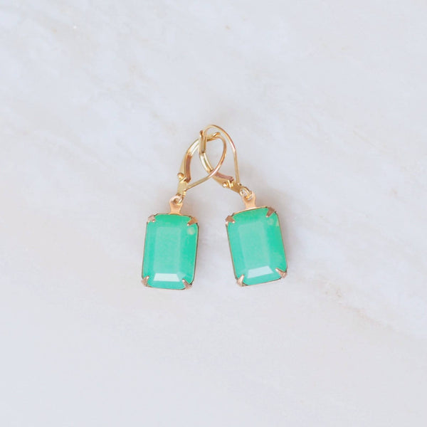 Jadeite Crystal Earrings