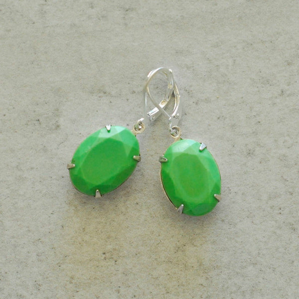 Vintage Spearmint Earrings