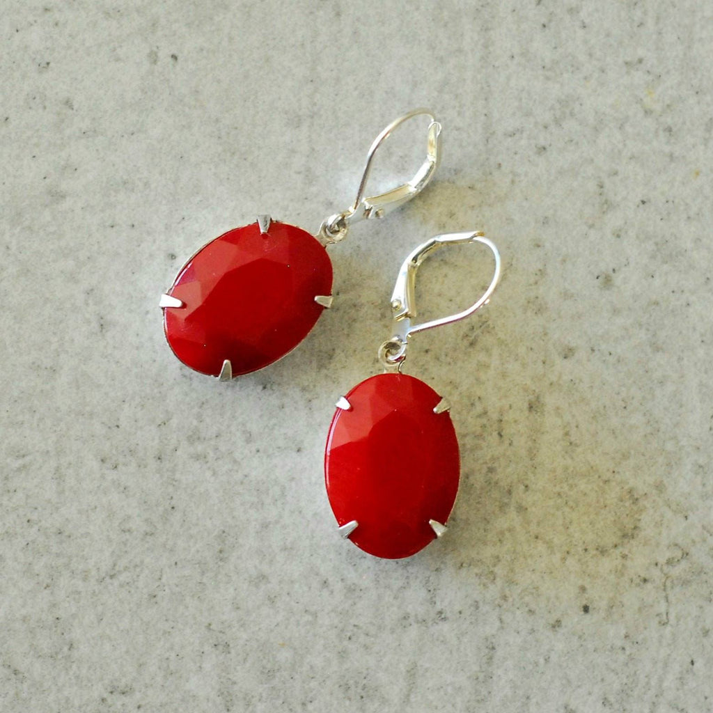Vintage Cerise Earrings