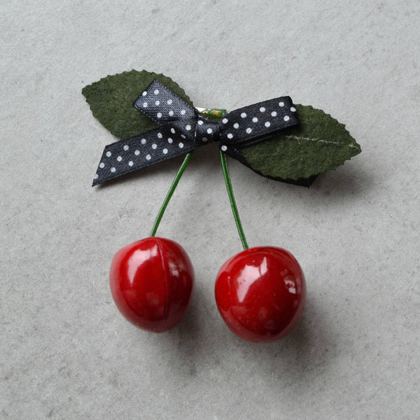 Sweetest Cherries Hair Clip