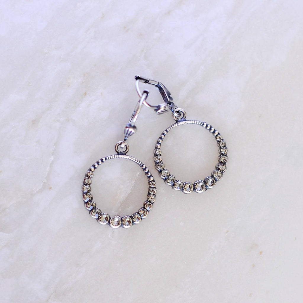 Crystal Halo Earrings