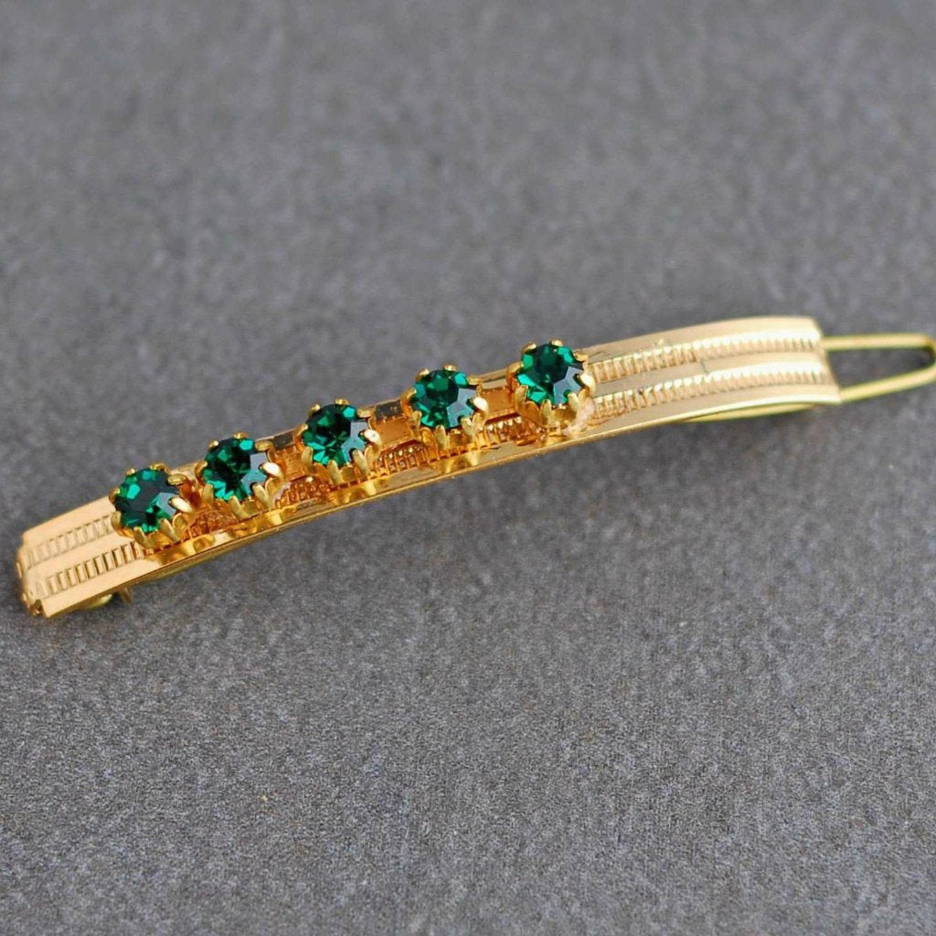 Vintage Emerald Fancy Clip