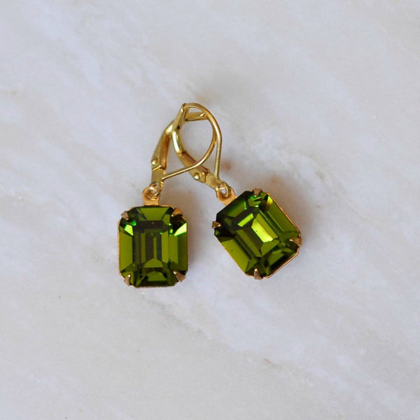 Vintage Olive Earrings