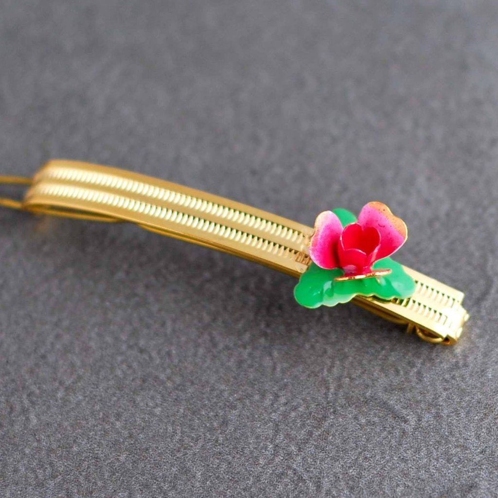 Vintage Rose Fancy Clip