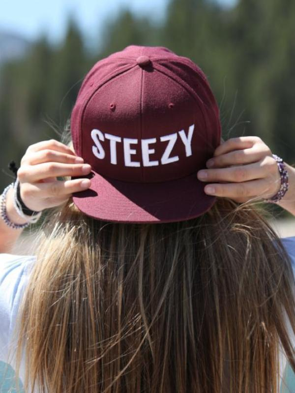 Straight Steezy Maroon Snapback - STEEZY