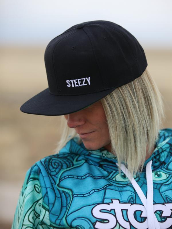 Steezy Small Text Snapback Hat - STEEZY