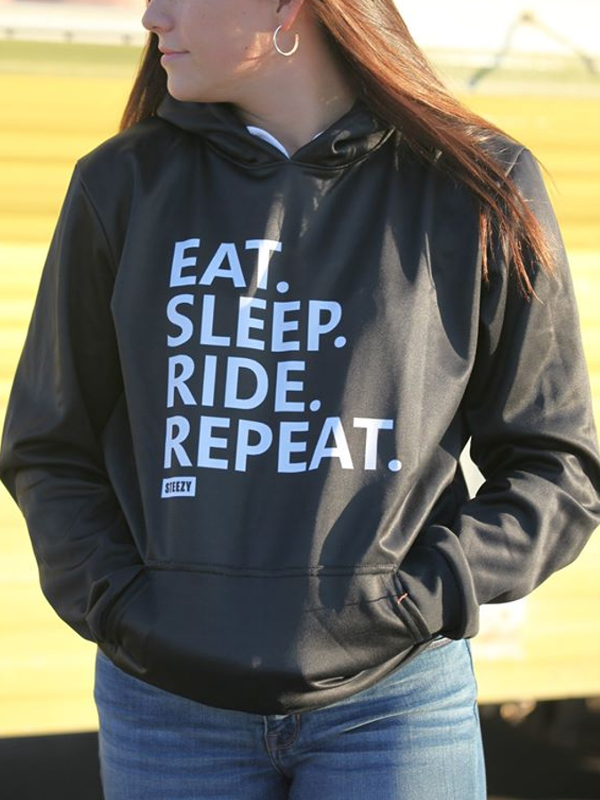 Eat Sleep Ride Repeat Hoodie - STEEZY