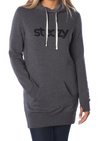 Charcoal Steezy Hoodie Dress - STEEZY