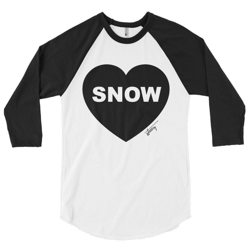 "Women's ""Heart Snow"" Baseball Tee - Steezy.com"
