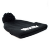 """Steezy Logo"" Pom Pom Beanie (Black & White) - STEEZY"