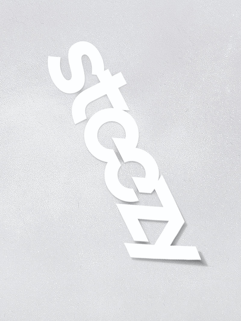 "White 12 Inch Vinyl ""Steezy"" Sticker - STEEZY"