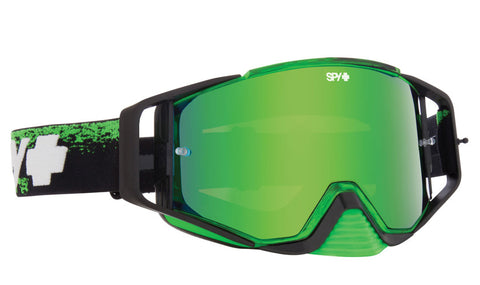 SPY ACE MX MASKED GREEN SMOKE W/ GREEN SPECTRA (+CLEAR ANTI FOG W/ POSTS)
