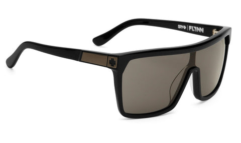 SPY FLYNN MATTE BLACK W SHINY BLACK TEMPLES GREY